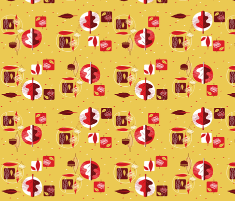oakleaves_'n_acorns fabric by squirrelgirl on Spoonflower - custom fabric
