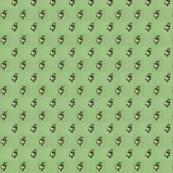 Antique Green Calico