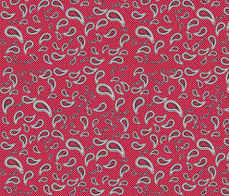 red dotted paisley fabric by amyteets on Spoonflower - custom fabric