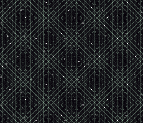 Black geometric dots fabric by amyteets on Spoonflower - custom fabric