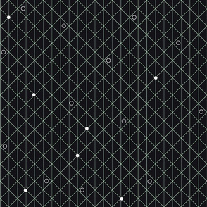 Black geometric dots