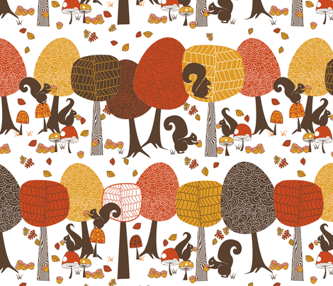 Those Nutty Squirrels fabric by meg56003 on Spoonflower - custom fabric