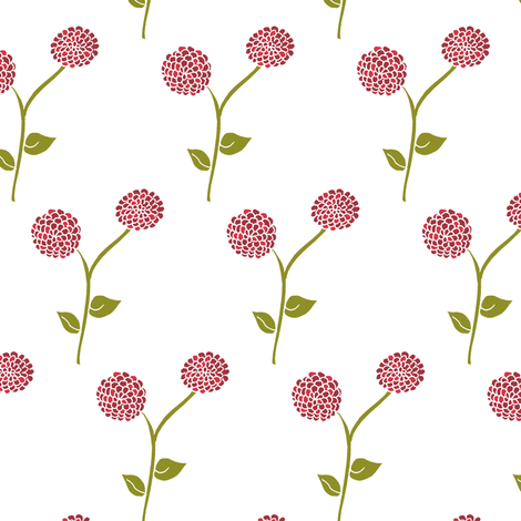A Dahlia Garden for Dad. fabric by rhondadesigns on Spoonflower - custom fabric