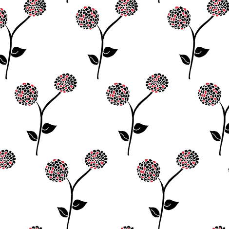 Frosted Dahlia Garden  fabric by rhondadesigns on Spoonflower - custom fabric