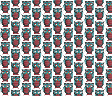Owlivia the Owl fabric by meg56003 on Spoonflower - custom fabric