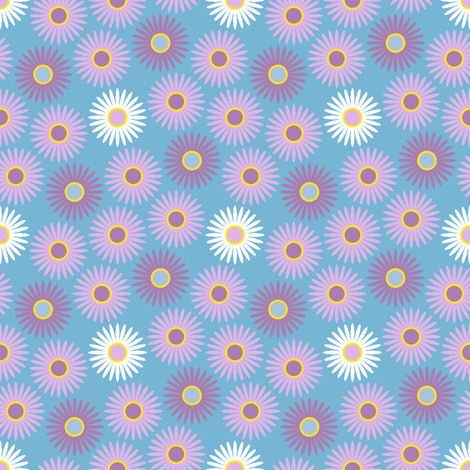 large daisies fabric by sef on Spoonflower - custom fabric