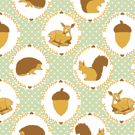 autumn love in the forest ♥ fabric by signora_aurora on Spoonflower - custom fabric