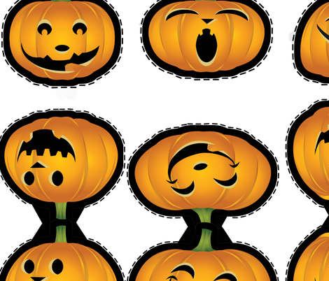 pumpkinbanner fabric by suziwollman on Spoonflower - custom fabric