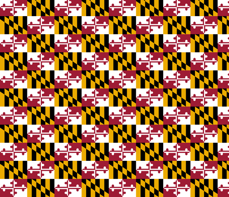 Maryland_state_flag fabric by yoshabel on Spoonflower - custom fabric