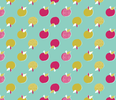 Autumn Apples fabric by joybucket on Spoonflower - custom fabric