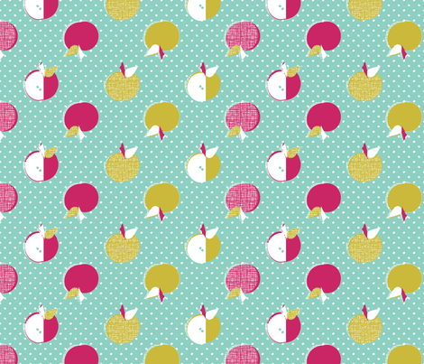 Autumn Apples 4 color fabric by joybucket on Spoonflower - custom fabric