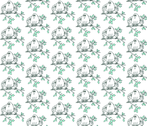 02BIRDS fabric by artitbymandra on Spoonflower - custom fabric