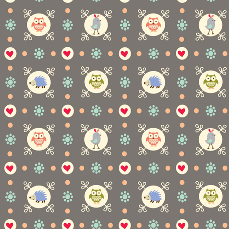 forest friends dot fabric by amel24 on Spoonflower - custom fabric