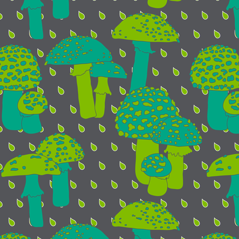 Autumn Umbrellas fabric by zoebrench on Spoonflower - custom fabric