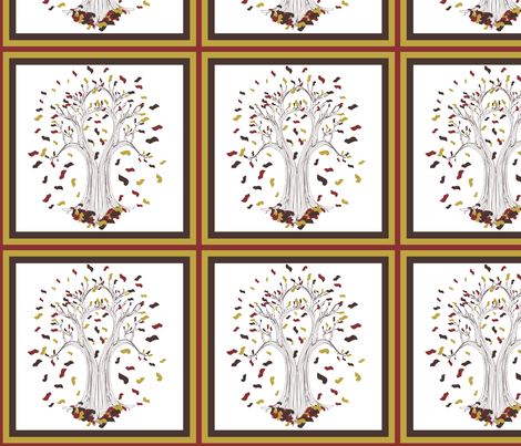 Autumn Tree fabric by brandymiller on Spoonflower - custom fabric