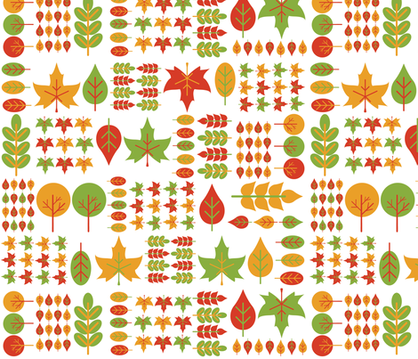 Autumn Leaves fabric by misssmanda on Spoonflower - custom fabric