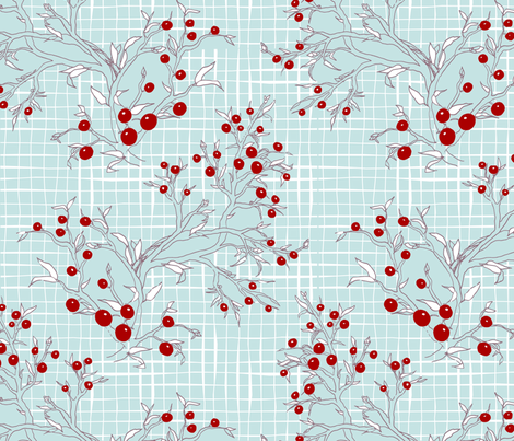 WinterBerries fabric by mrshervi on Spoonflower - custom fabric