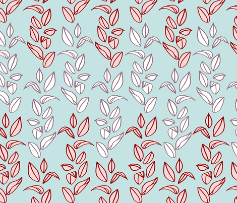 winterleaves fabric by mrshervi on Spoonflower - custom fabric