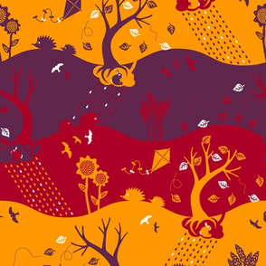 Autumn Silhouettes (please zoom for details)