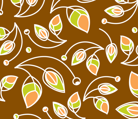 Autumn Foliage fabric by lucindawei on Spoonflower - custom fabric