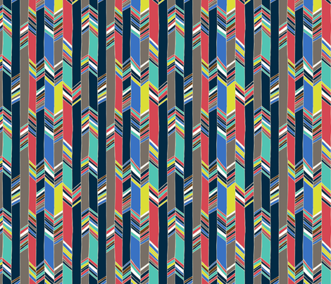 Feather chevron fabric by chulabird on Spoonflower - custom fabric
