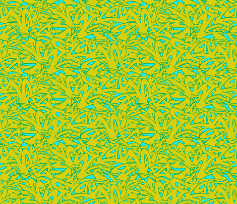 wildstyle green/blue fabric by jenr8 on Spoonflower - custom fabric