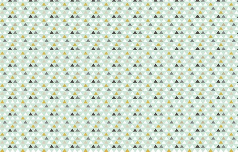 Mod Aqua Triangles half scale fabric by mrshervi on Spoonflower - custom fabric