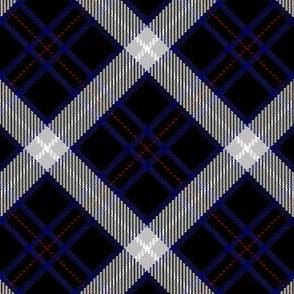 Black, Blue and White Plaid