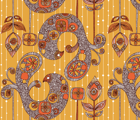 Autumn Folk fabric by valentinaharper on Spoonflower - custom fabric