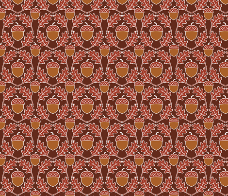 acorn fabric by minimiel on Spoonflower - custom fabric
