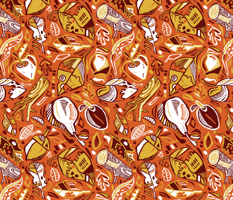 Pears, Acorns, Leaves and Logs fabric by gsonge on Spoonflower - custom fabric
