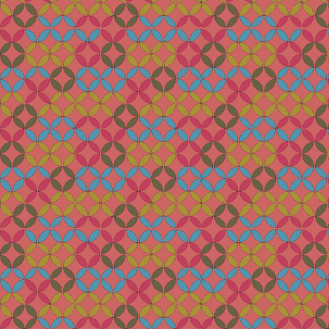Circles by Number (Coral) fabric by david_kent_collections on Spoonflower - custom fabric