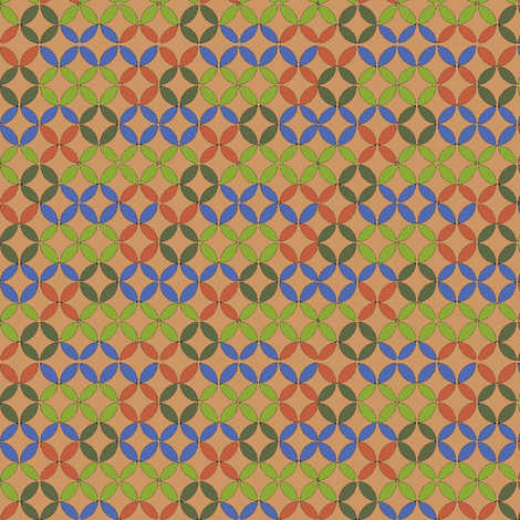 Circles by Number (Green) fabric by david_kent_collections on Spoonflower - custom fabric