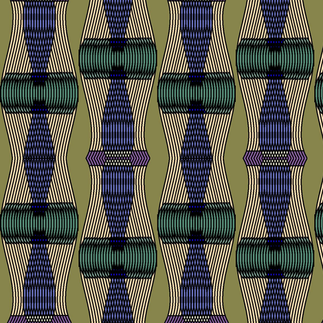 Helios (Green) fabric by david_kent_collections on Spoonflower - custom fabric