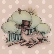 Deer in a Top Hat