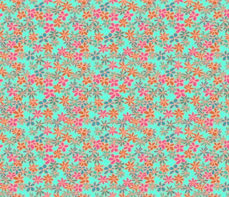 Scatter Posies fabric by tallulahdahling on Spoonflower - custom fabric