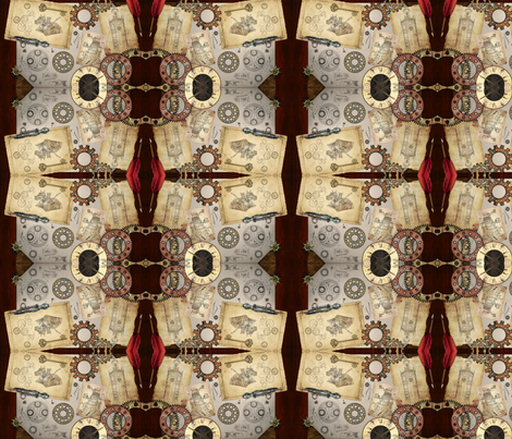 Steampunk Doctor Who fabric by bewitchedraven on Spoonflower - custom fabric