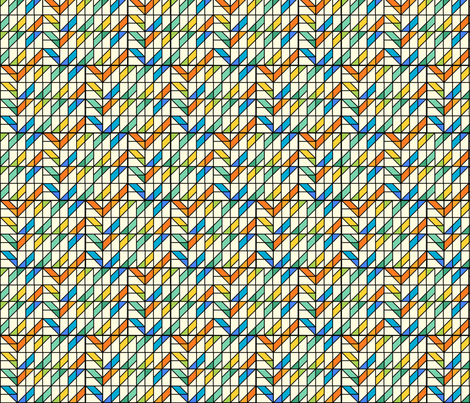 Stripe Mosaic 1 fabric by zigzagza on Spoonflower - custom fabric