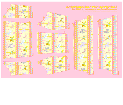 OP Panel Yellow Size 40 fabric by printedprincess on Spoonflower - custom fabric