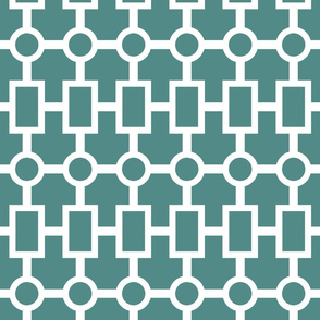 geometric chain in teal