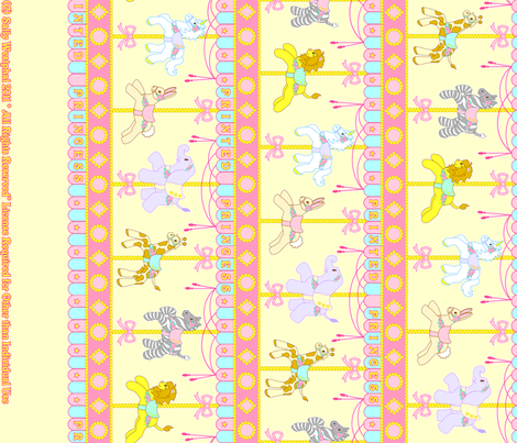 Magic Carousel Yardage Yellow fabric by printedprincess on Spoonflower - custom fabric