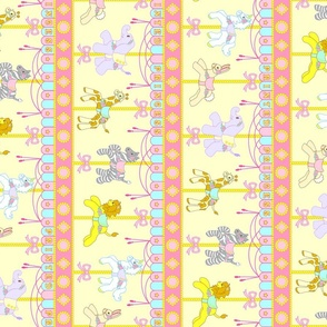 Magic Carousel Yardage Yellow