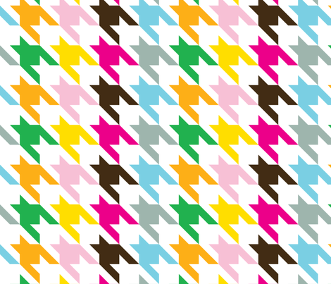 Houndstooth Rainbow-ed fabric by honey&fitz on Spoonflower - custom fabric