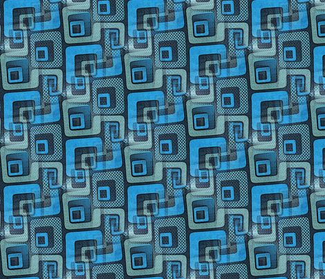 Got the blues cuz I'm so square fabric by nalo_hopkinson on Spoonflower - custom fabric