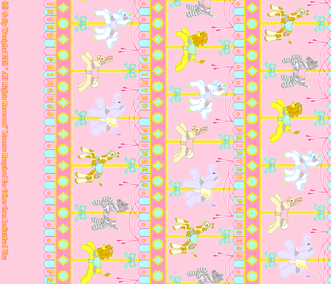 Magic Carousel Yardage Pink