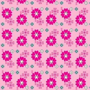 Ditsy Print in Bubblegum