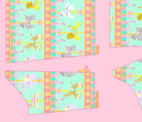 OP Panel Mint Size 40 fabric by printedprincess on Spoonflower - custom fabric