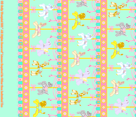 Magic Carousel Yardage Mint fabric by printedprincess on Spoonflower - custom fabric