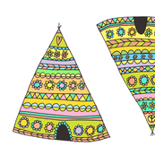 retro flower power teepees
