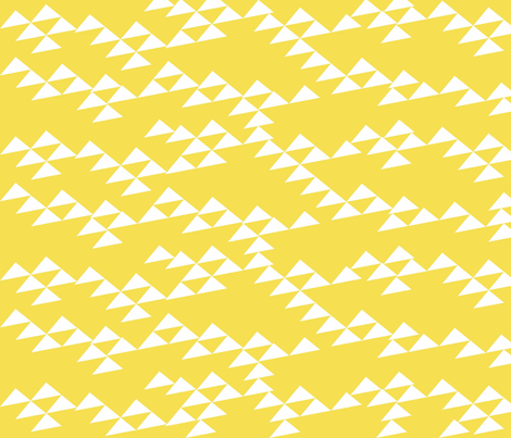Yellow mountain in the spring fabric by jshin on Spoonflower - custom fabric